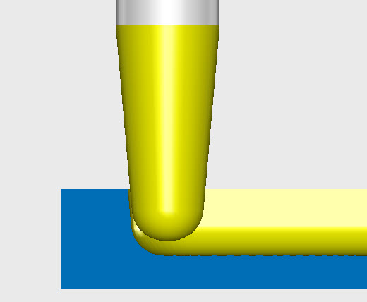 tapered ball end